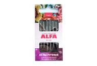 Иглы ручные ALFA для гобеленовой вышивки № 18/22 AF-228