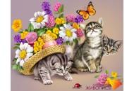 "Картина стразами ""3 котенка"""