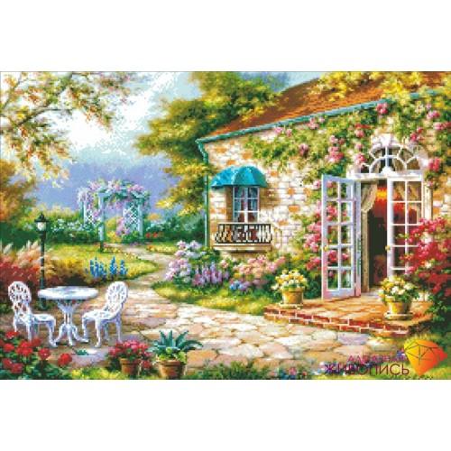 "Картина стразами ""Летний дворик"""
