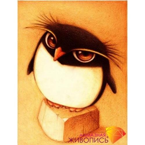 "Картина стразами ""Пингвин"""
