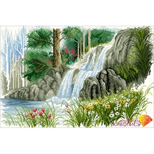 """Картина стразами """"Лесной ручей"""""""