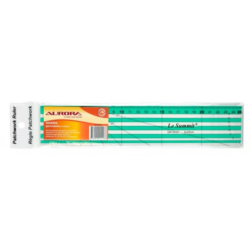 Линейка для пэчворка 5*25 см AU-0525